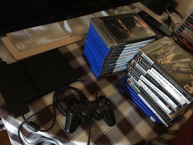 PlayStation 2 Slim Black + Muitos Jogos