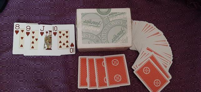 Игральные карты для покера, Fournier 818 прочный картон.