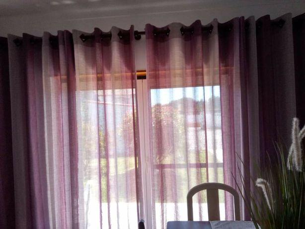 Conjunto de cortinados para sala