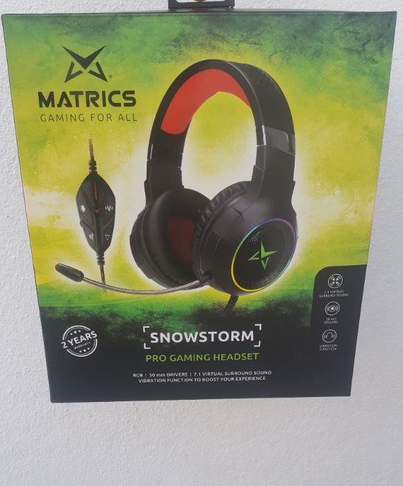 Headset Matrics SnowStorm RGB