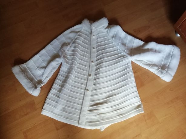 Narzutka, sweterek dziewczynka 128-134