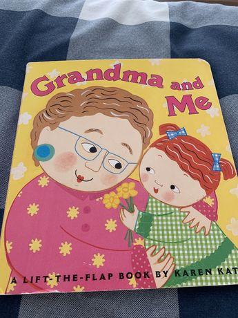 """Ksiażeczka otwierana po angielsku ,,grandma and me"""""""