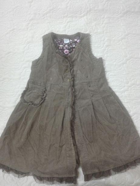 Sukienkeczka ,kolor haki ,rozmiar 116 ,100%bawełna
