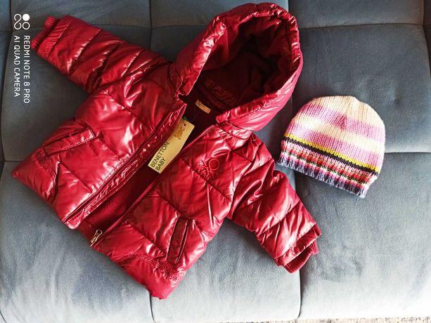 Kurtka zimowa dla dziewczynki rozm. 62 Benetton