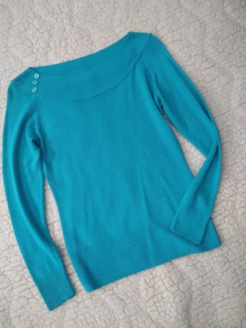 Swetry Marks & Spencer turkusowy, czerwony S/L