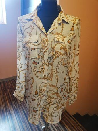 Koszula łańcuchy wzory Nowa M L śliczna elegancka dłuższa
