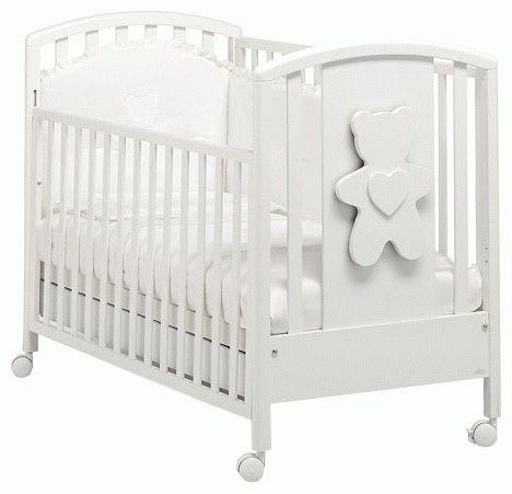 Białe włoskie łóżeczko łóżko z szufladą 140x70 drewniane, materac