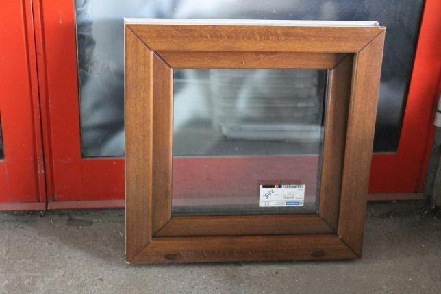 okno pcv złoty dąb 80x80 tanio nowe tania wysyłka
