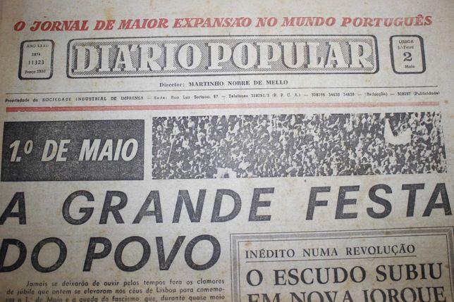 Jornal - Diário Popular - Lisboa - Relativo ao 1º de Maio 1974
