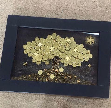 Картина панно Денежное дерово необычный Подарок эксклюзив