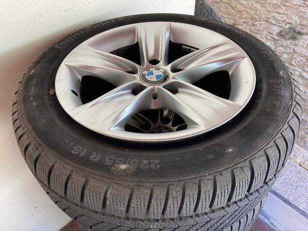 Conjunto de 4 Pneus Continental C/ Jante BMW - 225/55 R16