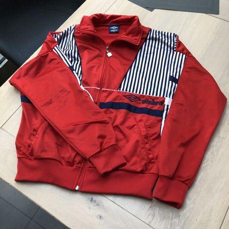 Czerwona bluza Umbro M L rozpinana 38 40 paski sportowa