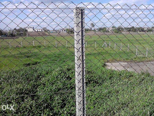 Забор из сетки рабица установка