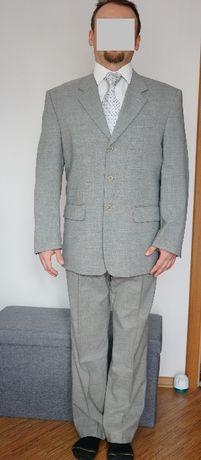 Garnitur męski 52 (170) szary - LINEAR, włoski, wełna