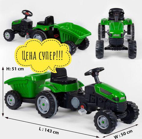 Детский педальный Трактор с прицепом. Дитячий трактор з прицепом