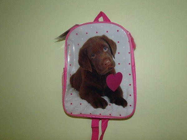 Plecak przedszkolny mały z psem pieskiem labrador dla dziewczynki