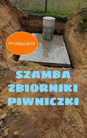 Szamba zbiorniki piwnice szambo betonowe od producenta montaż 4-12m3