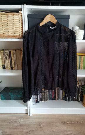 Czarna bluzka koszula elegancka Zara XL 42 44 oversize