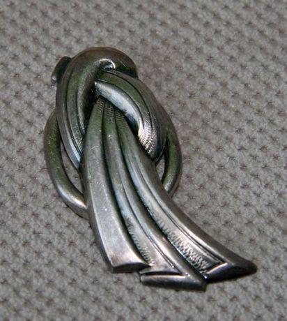 Broszka srebrna - bardzo stara - antyk nr-13