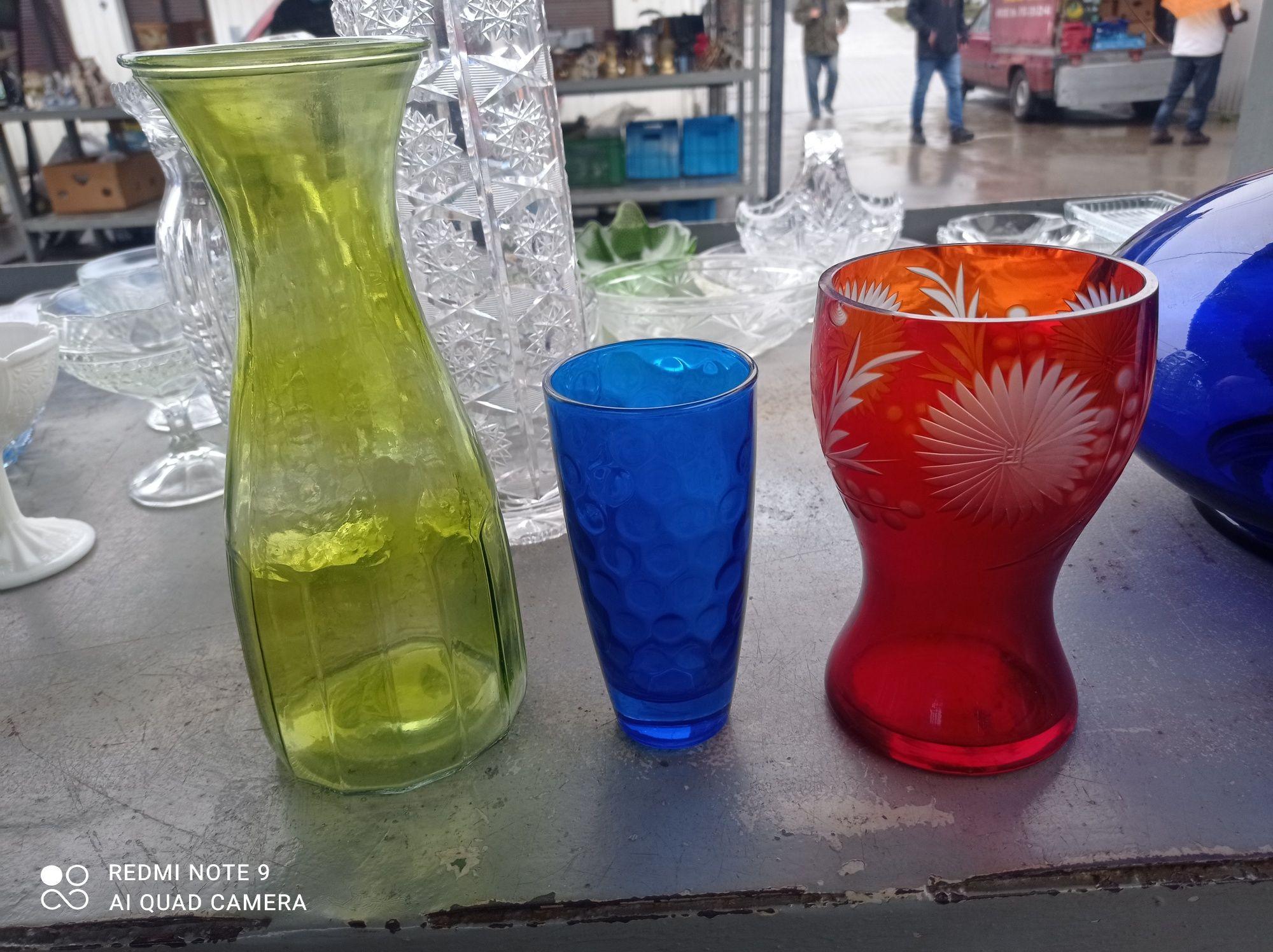 Wazony szklane 3 sztuki komplet