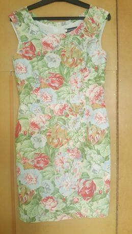 Sukienka ołówkowa w kwiaty, rozmiar S