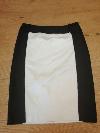 Ołówkowa spódnica biało-czarna PROMOD r. L !!!