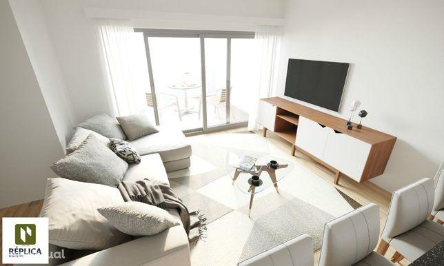 Apartamento T1 NOVO com 52m2, varandas e 1 lugar de garagem
