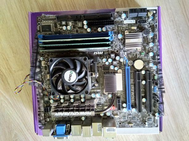Athlon II X2 250, płyta MSI, 10GB RAM, Radeon R7 250