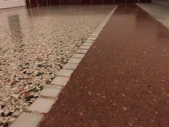 Renowacja posadzek, schodów,Terrazzo, Lastryko, Lastriko granit, beton Warszawa - image 1