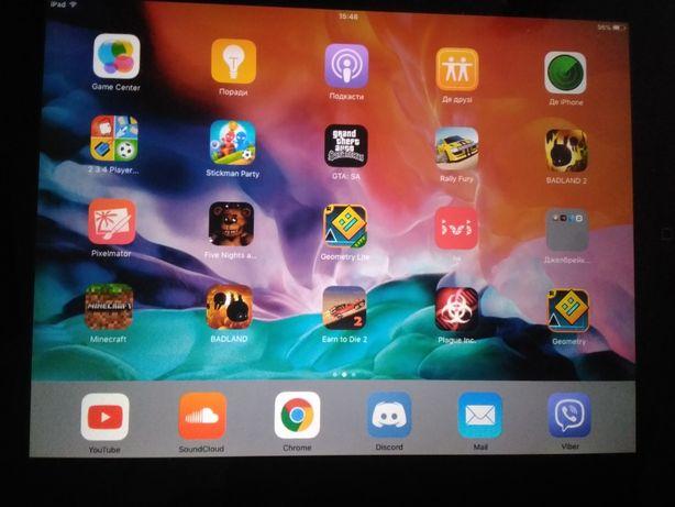 Apple Ipad 2(2012)Сделан джелбрейк!Много платных игр + 3 ценых подарка