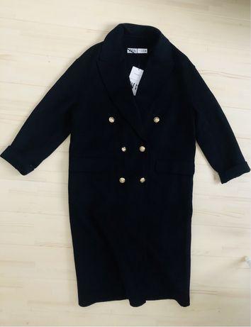 Двубортное шерстяное пальто zara S с, М - m