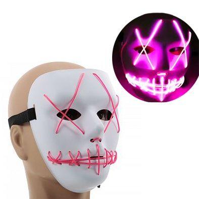 Неоновая Led маска разные цвета