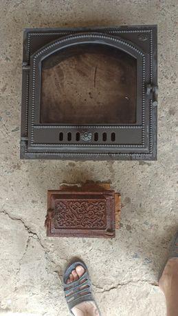 Дверь від каміна з склом SVT