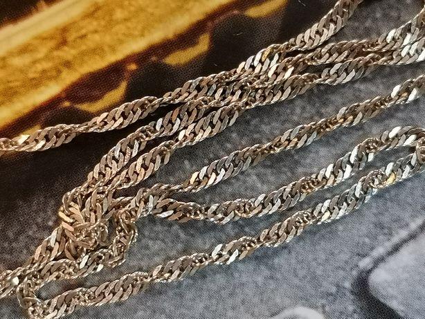DD468 srebrny łańcuszek splot kord, srebro 925