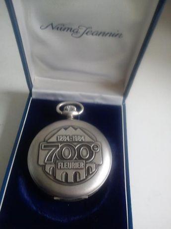 ANTIGO Relogio de bolço de colecion em prata mad suiça dos anos 40,50