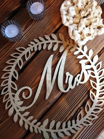 koła, wianki MR MRS dekoracje ślubne weselne