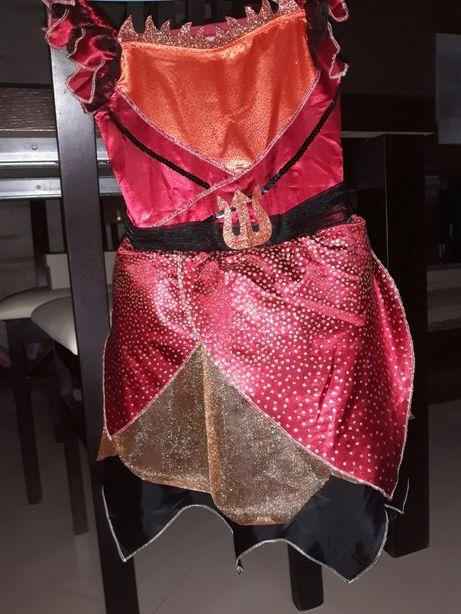 Strój karnawałowy diablica czarownica na Halloween
