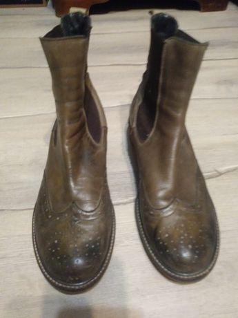 Sprzedam skórzane brązowe damskie buty roz 38