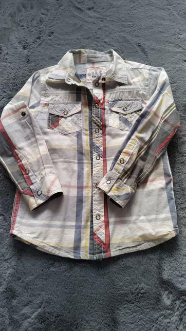 Koszula chłopięca w kratę 116 cm