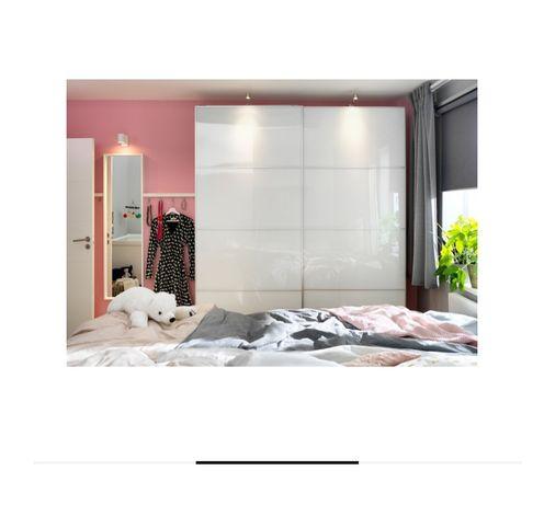 3 sztuki panele szklane szer. 100 cm IKEA do drzwi przesuwnych 100x236