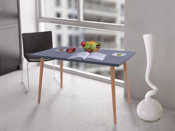 Stół kuchenny Oslo 100x60X38 Antracyt n.oslo buk Okazja!!!
