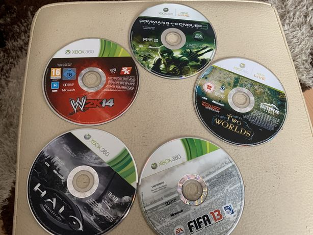 Gry xbox 360 Halo Anniversary, W2K14, command-conquer3, Two worlds,