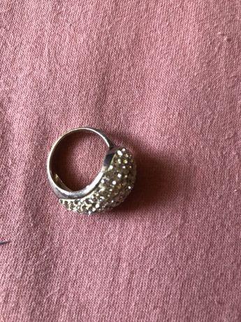 Srebrny pierścionek i zawieszka