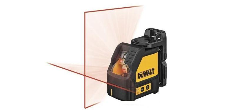 Nível Laser Luz Vermelha Cruzado DW088K Amora - imagem 1