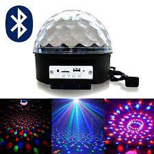 Диско шар светомузыка с Bluetooth и MP3 (флешка + пульт) Magic Ball