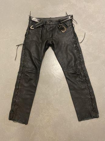 Spodnie motocyklowe skóra-męskie