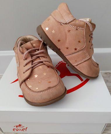 Buty 21 Emel skórzane trzewiki dla dziewczynki