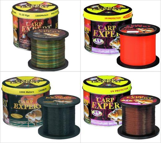 Леска Carp Expert 1000 м (Multicolor, Fluo Orange, UV Brown, Carbon)