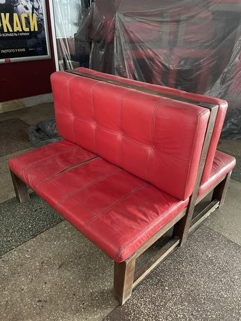 Диван кафе/ресторан, Дуб. Тподібний,2 двомісних дивани. 120 см. 3 шт.