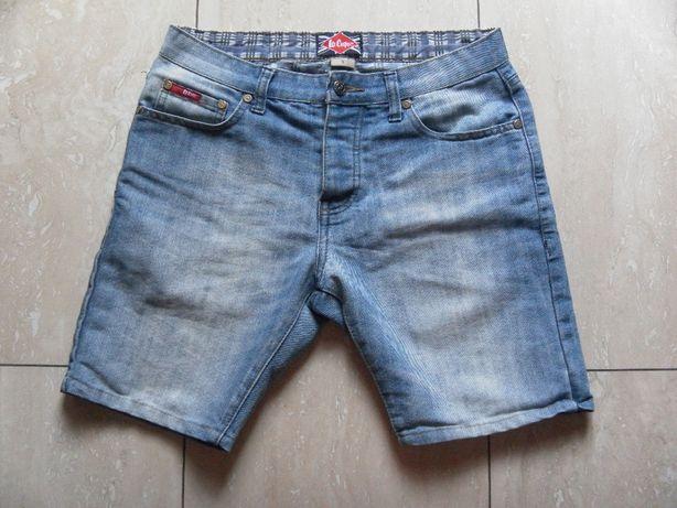 Jeansy szorty Lee Cooper męskie spodnie spodenki S